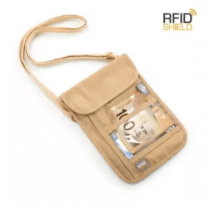 1. Heys RFID Blocking Neck Wallet