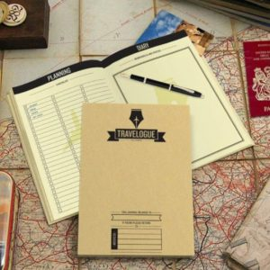 2. YBC Travel Log Note Scratch Map Deluxe Travel Journal
