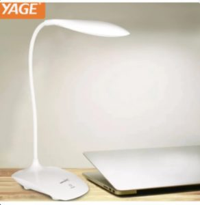 5. YAGE USB Rechargeable LED Touch Sensor Table Desk Lamp