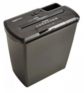 6. AmazonBasics 8-Sheet Paper Shredder