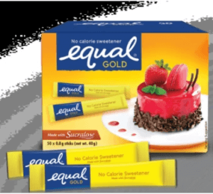 8. Equal Gold No-Calorie Sweetener