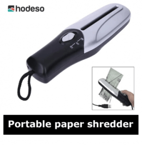 9. Hodeso Portable Handheld Paper Shredder