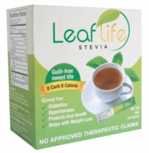 10. Leaflife Stevia 100% Natural Sweetener