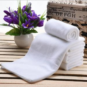 7. China OEM White Face Towel (10 pieces)