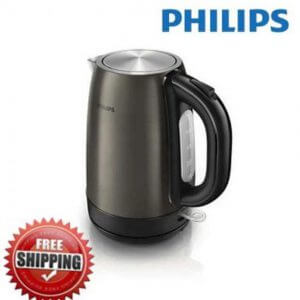 3. Philips Titanium colored metal electric Kettle HD9322/80 1.7ℓ