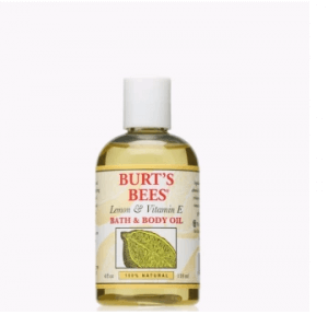 4. Burt's Bees Lemon and Vitamin E Bath and Body Oil
