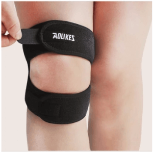 3. Jiayiqi 2-Piece Gym Adjustable Padded Knee Supporter