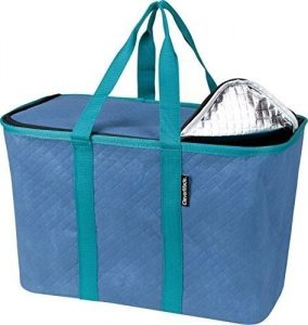 2. CleverMade SnapBasket Thermo Collapsible Shopping Tote