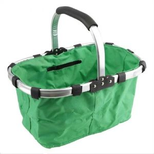 7. CHEER Folding Metal Frame Basket Bag