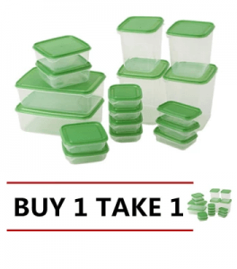 4. Ikea Pruta Food Container Set of 17
