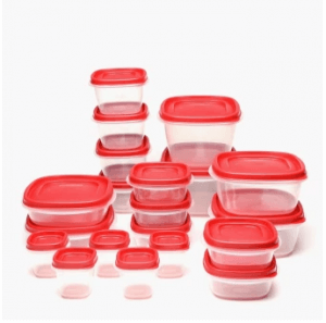 2. Rubbermaid 40-Piece Easy-Find Lids Food Container Set