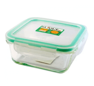 1. Slique Square Glass Food Container