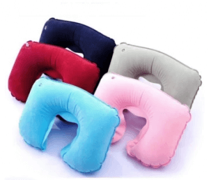 7. Tomsoo Inflatable U-Shaped Neck Pillow