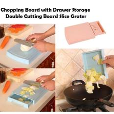 9. Chopping Board with Drawer Storage and Slicer