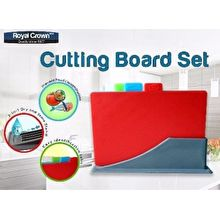 4. Royal Crown 4 pc. Color Coded Chopping Board Set
