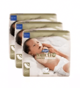 3. Drypers Touch Newborn Baby Diaper