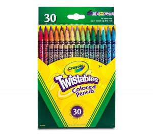 6. Crayola 30 Count Twistable Colored Pencils