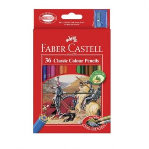 4. Faber-Castell Classic Colour Pencils 36 Colors Long