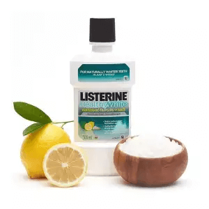 2. Listerine Healthy White With Lemon and Salt