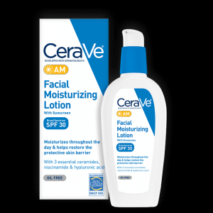 2. CeraVe AM Facial Moisturizing Lotion