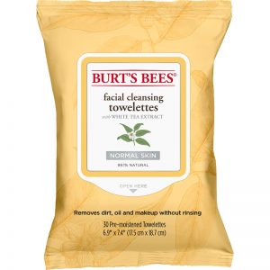 4. Burt's Bees Facial Cleansing Towelettes with White Tea Extract