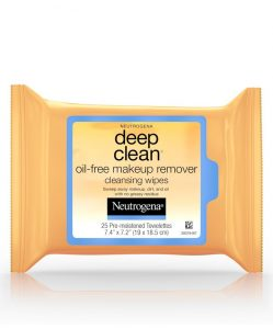 3. Neutrogena Deep Clean® Oil-Free Makeup Remover Cleansing Wipes