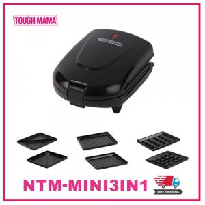 1. TOUGH MAMA Mini 3 in 1 Griller Sandwich and Waffle Maker