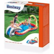 5.Toy Collections Bestway Splash & Play Interactive Inflatable Kids' Play Pool with Slide