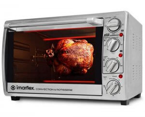 7. Imarflex IT-350CRS 35Liters 3in1 Convection and Rotisserie Oven
