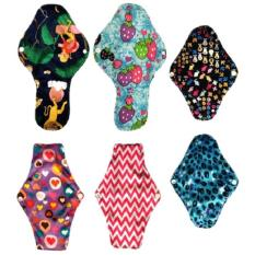 4. Pack of 6 Washable Reusable Cloth Mama Pads Menstrual Sanitary Napkin