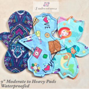 6. Moderate To Heavy Reusable Cloth Menstrual Pads